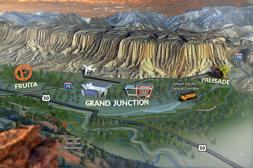 Grand Junction Colorado Map Area Map | Colorado's Grand Valley | Grand Junction Economic