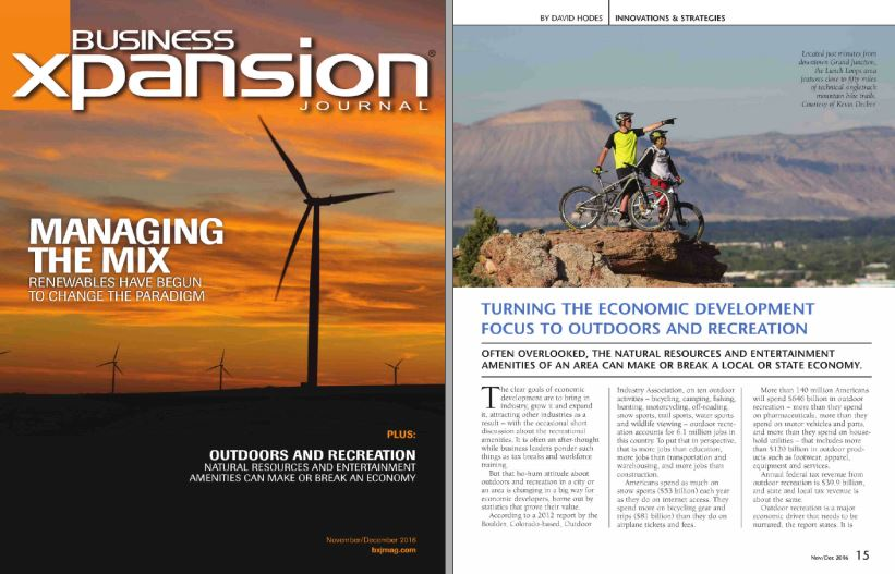 Business Expansion Journal on Outdoor Recreation Industry in Colorado's Grand Valley