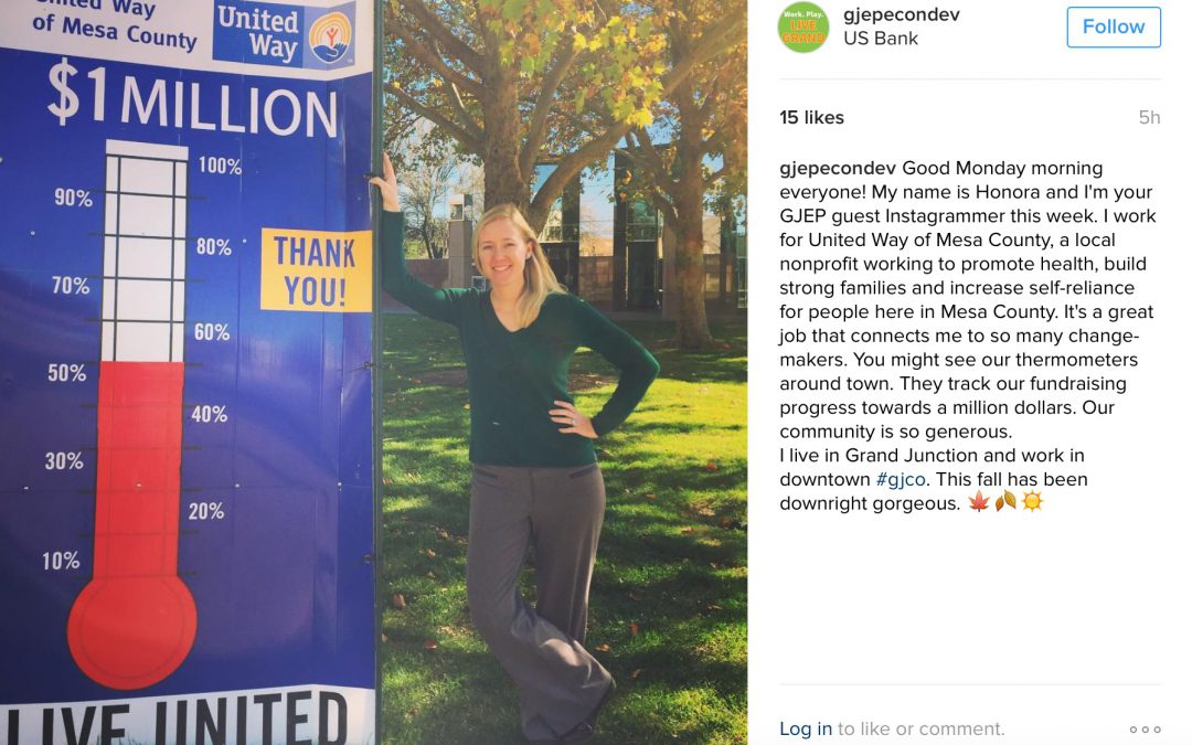 GJEP Welcomes Guest Instagrammer – United Way's Honora Thompson