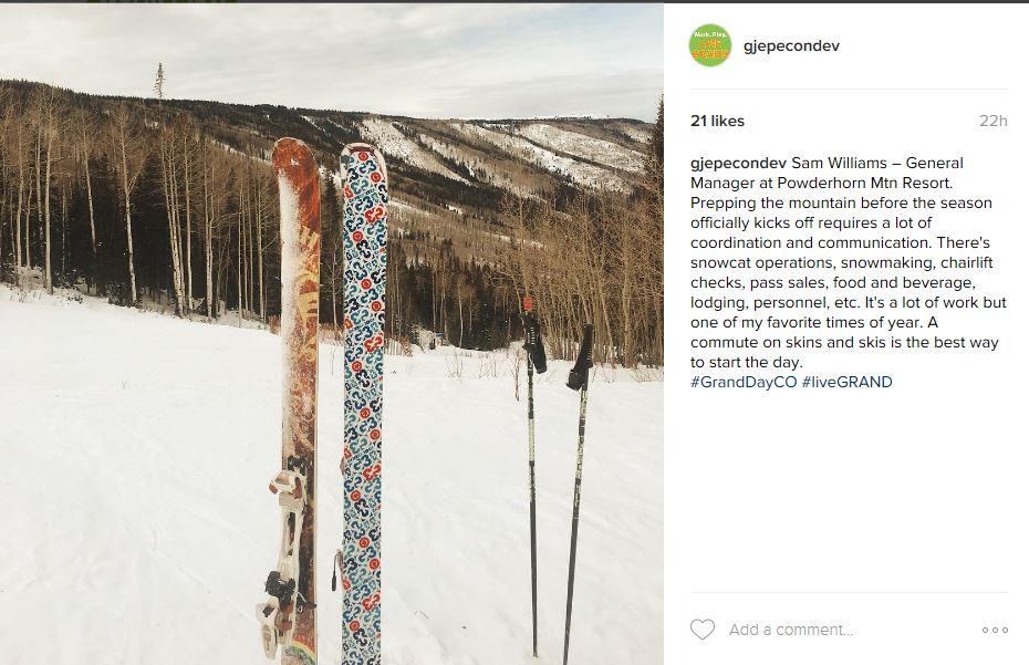 Guest Instagrammer – Powderhorn's Sam Williams