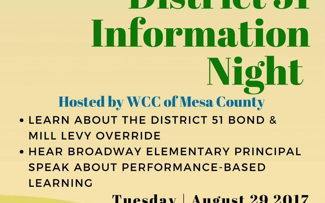 District 51 Information Night
