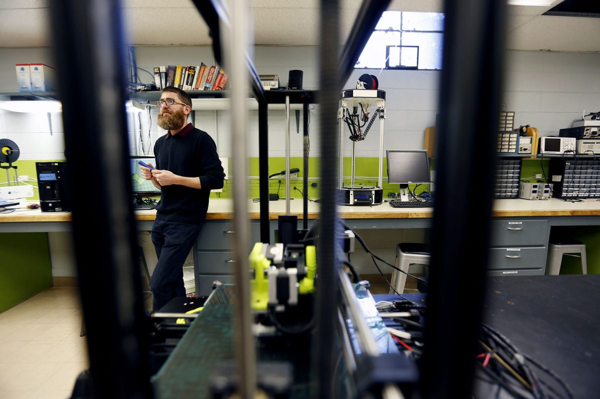 Director Nick Tinney at the expanding GJ Makerspace, catering to entrepreneurs in Colorado's Grand Valley