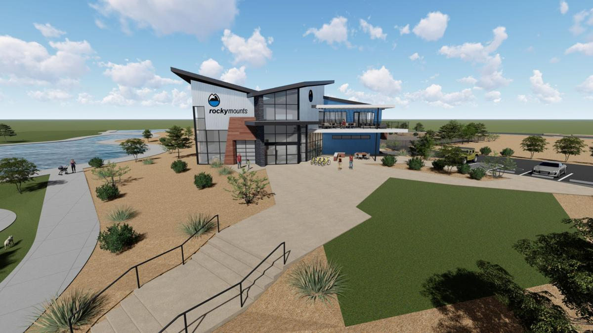 RockyMounts' rendering of new headquarters building at Riverfront at Las Colonias Park in Grand Junction, CO.